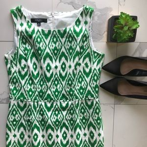 Nine West Green And White Patterned Dress